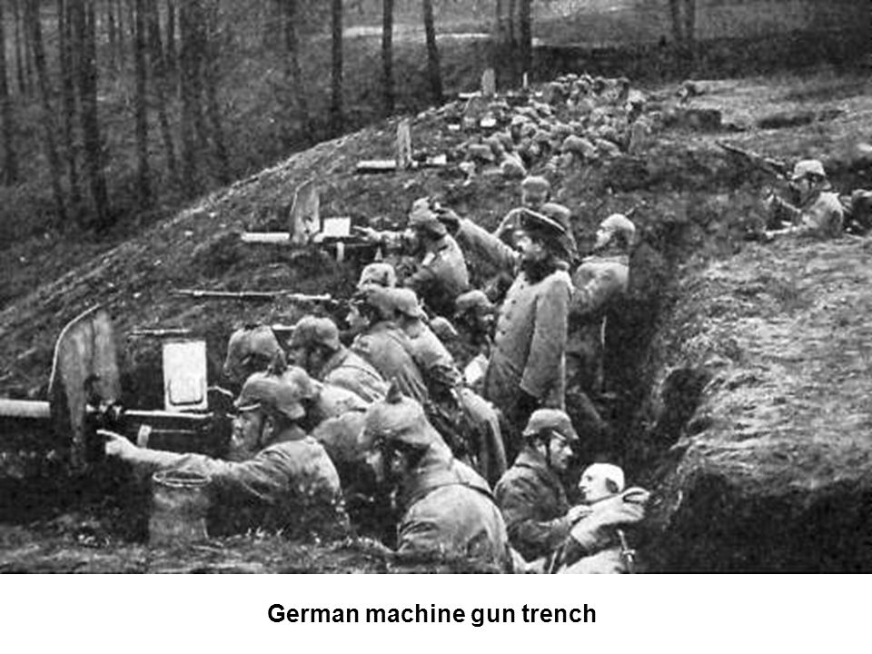 German machine gun trench