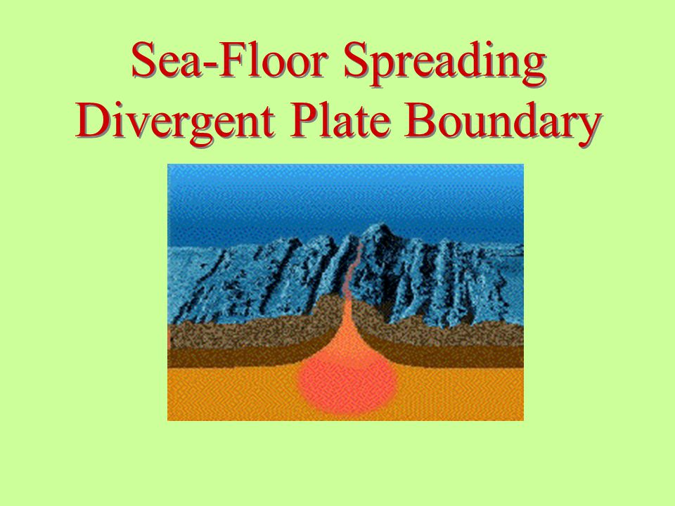 Sea-Floor Spreading Divergent Plate Boundary