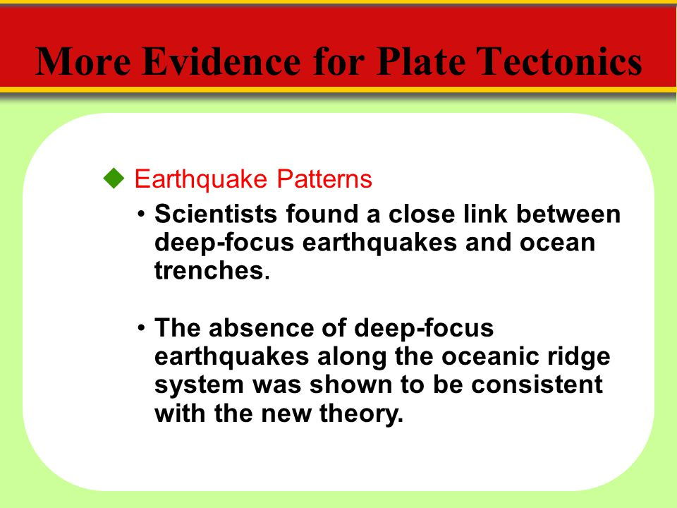 More Evidence for Plate Tectonics