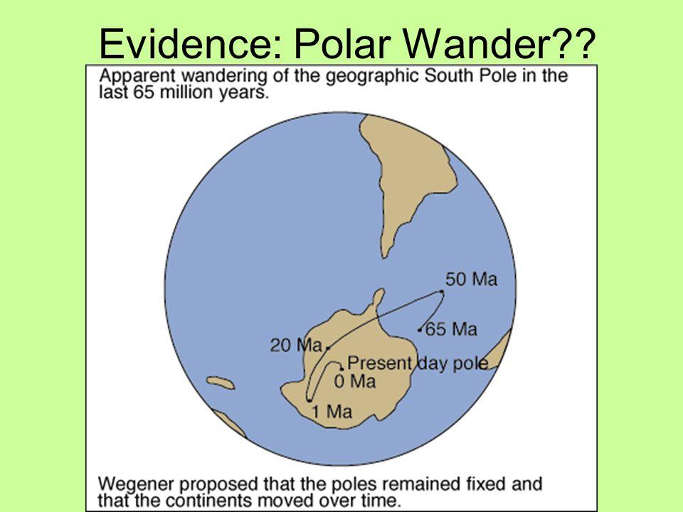 Evidence: Polar Wander