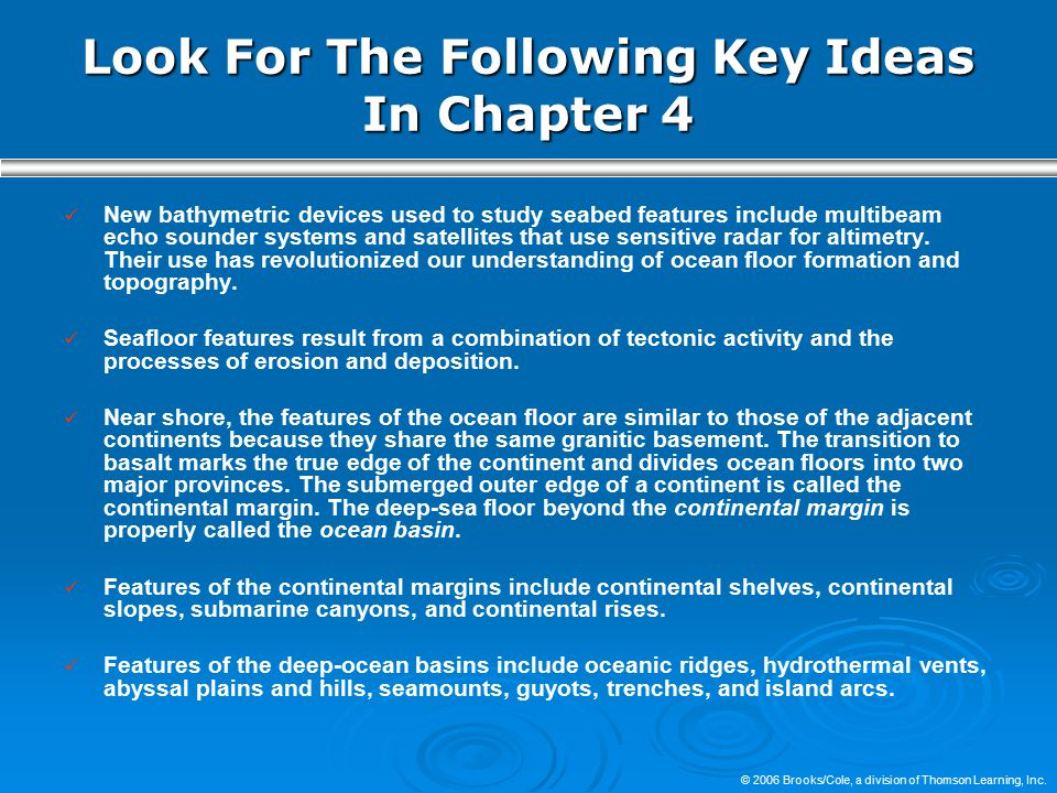 Look For The Following Key Ideas In Chapter 4