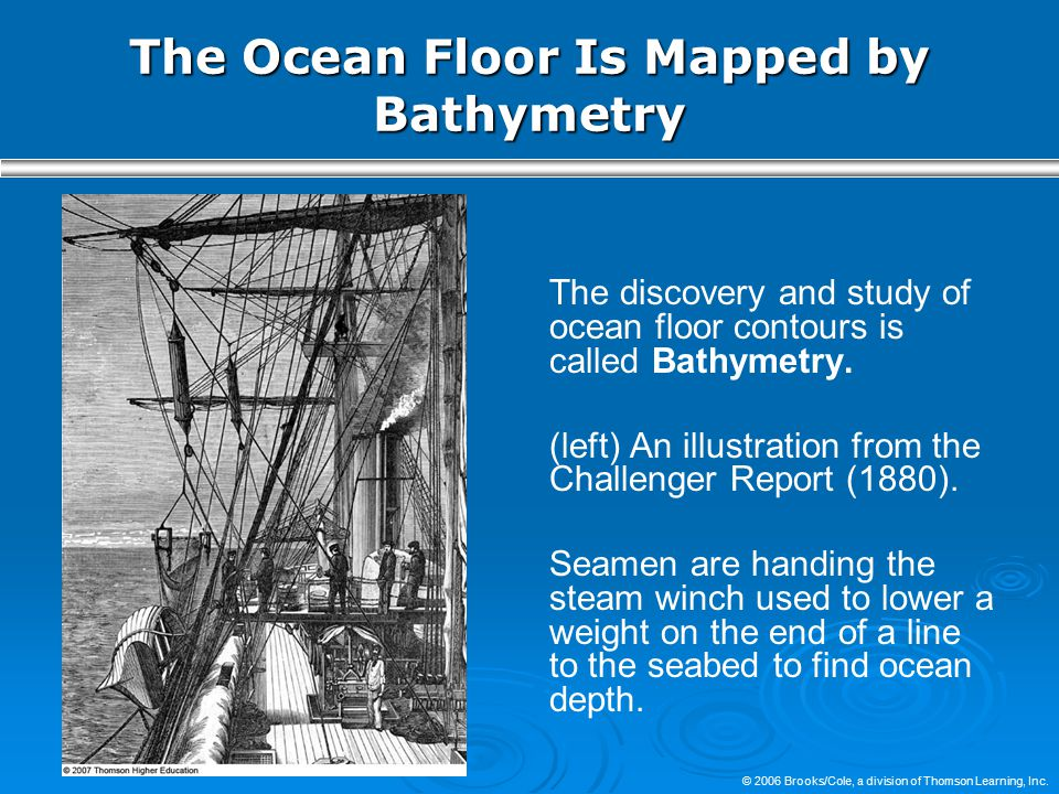 The Ocean Floor Is Mapped by Bathymetry