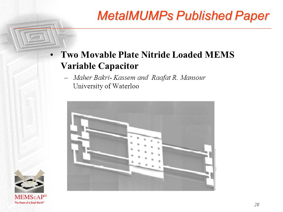 MetalMUMPs Published Paper