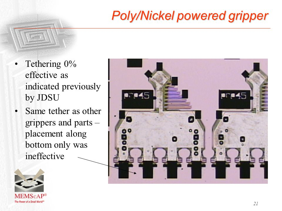 Poly/Nickel powered gripper