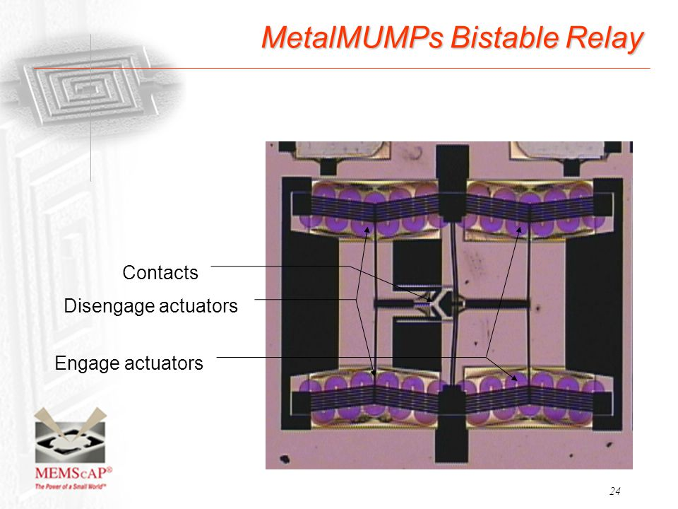 MetalMUMPs Bistable Relay