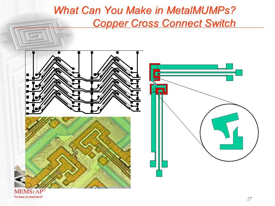 Copper Cross Connect : Metalmumps process flow ppt video online download