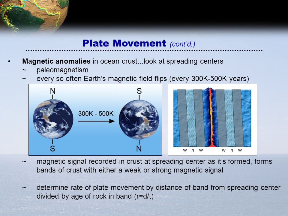Plate Movement (cont'd.)