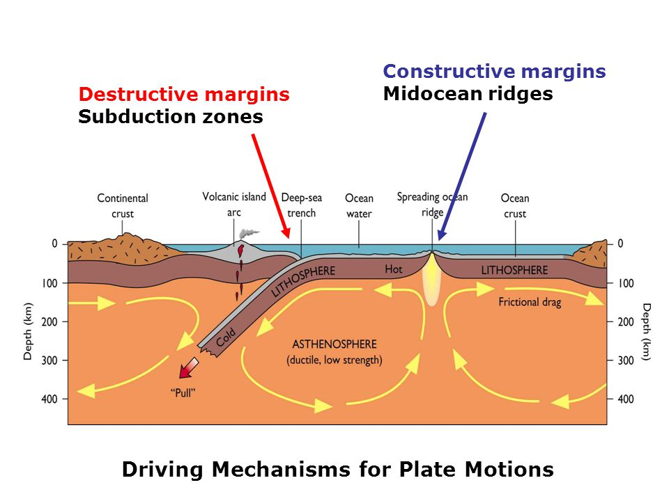 Driving Mechanisms for Plate Motions
