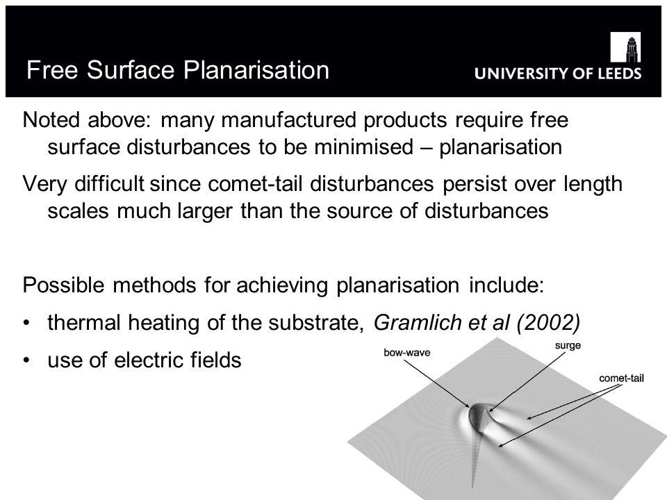 Free Surface Planarisation