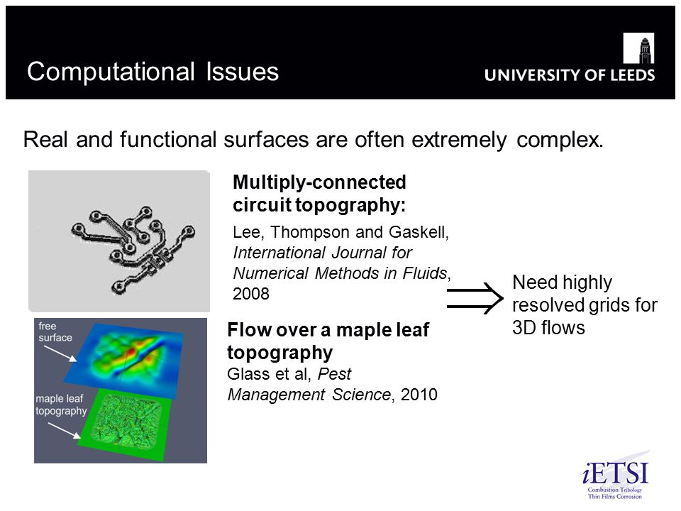 Computational Issues Real and functional surfaces are often extremely complex. Multiply-connected circuit topography: