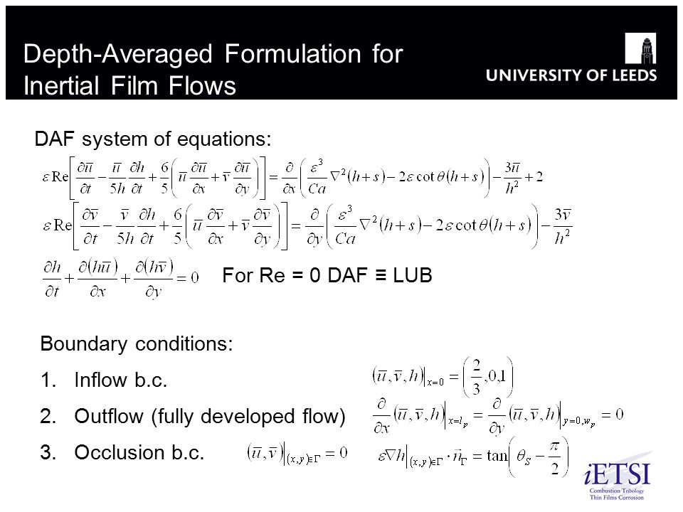 Depth-Averaged Formulation for Inertial Film Flows
