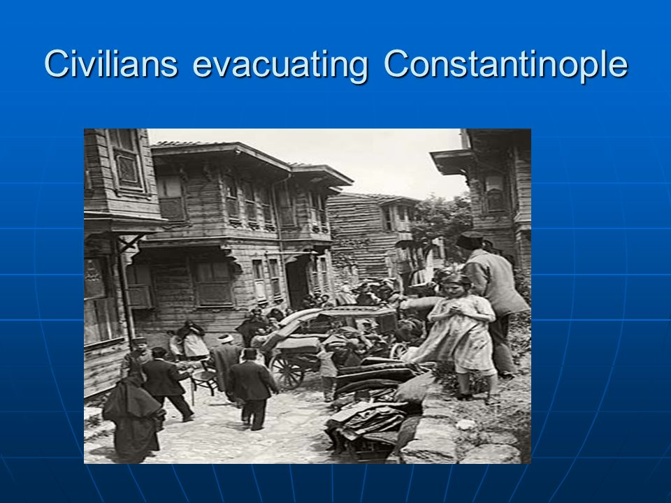 Civilians evacuating Constantinople