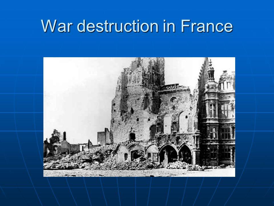 War destruction in France