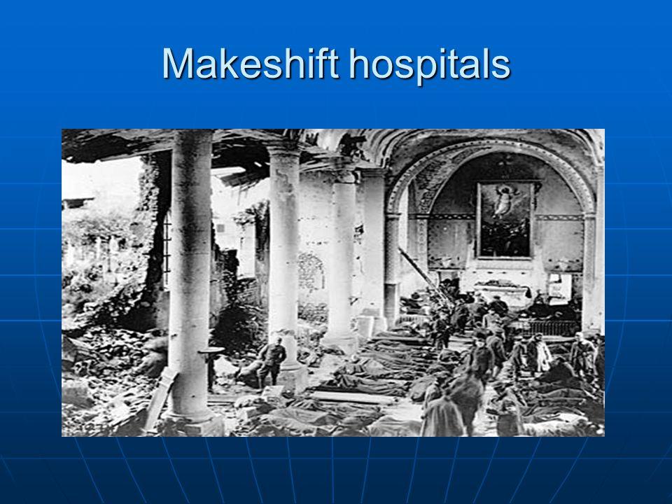 Makeshift hospitals