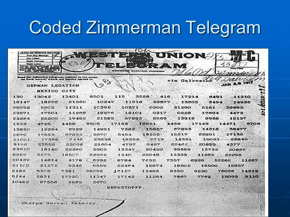 Coded Zimmerman Telegram
