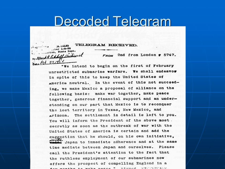 Decoded Telegram