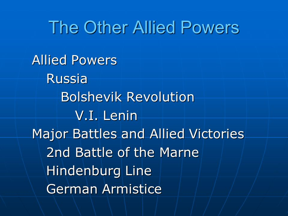 The Other Allied Powers