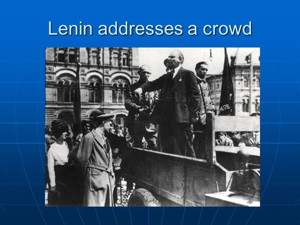 Lenin addresses a crowd