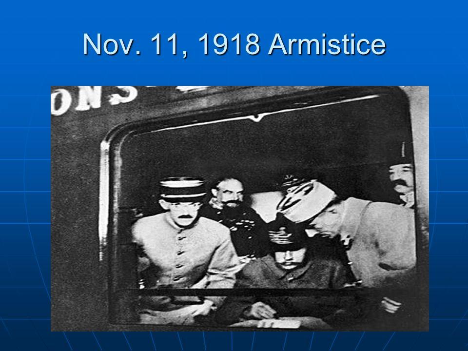 Nov. 11, 1918 Armistice