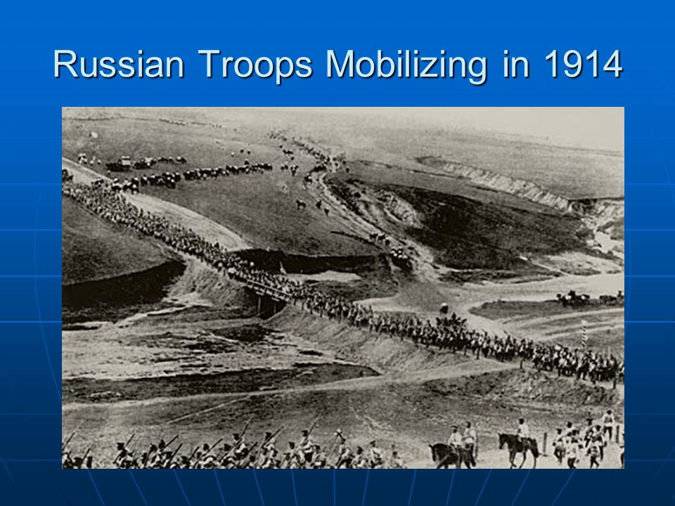 Russian Troops Mobilizing in 1914