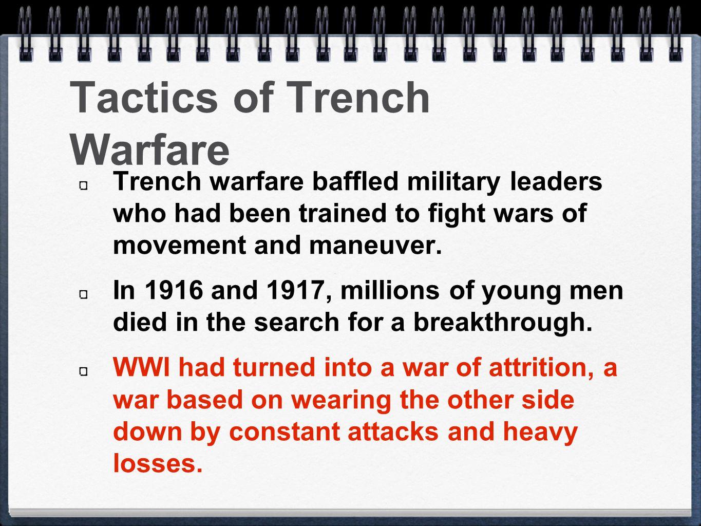 Tactics of Trench Warfare
