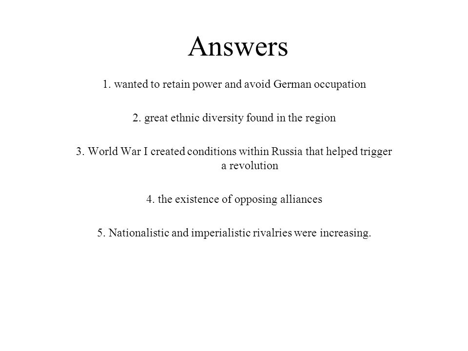 Answers 1. wanted to retain power and avoid German occupation