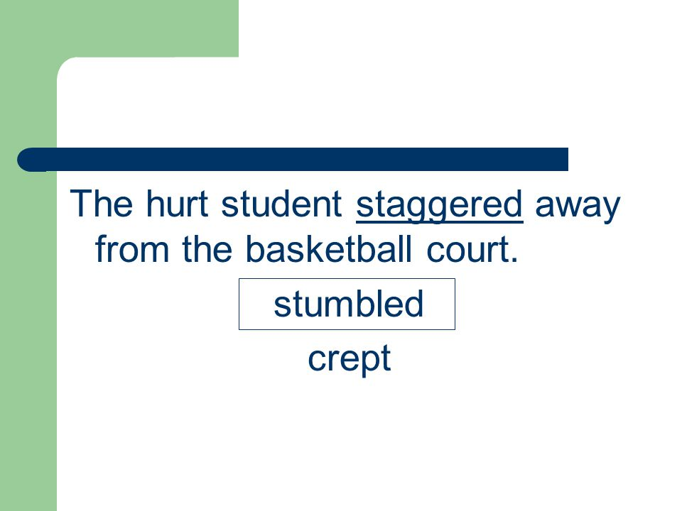 The hurt student staggered away from the basketball court.