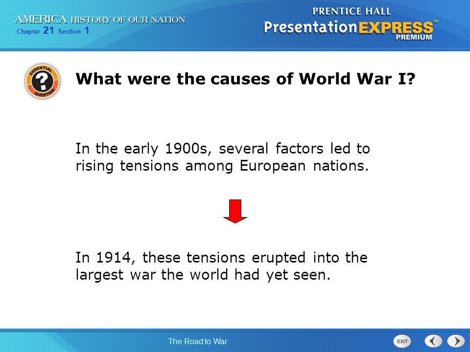 What were the causes of World War I