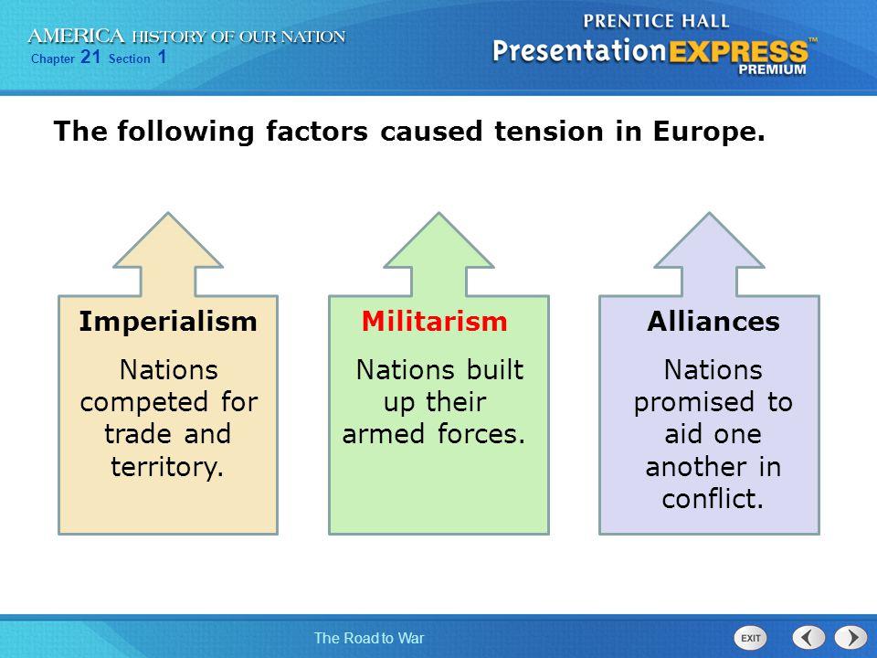 Imperialism Militarism Alliances