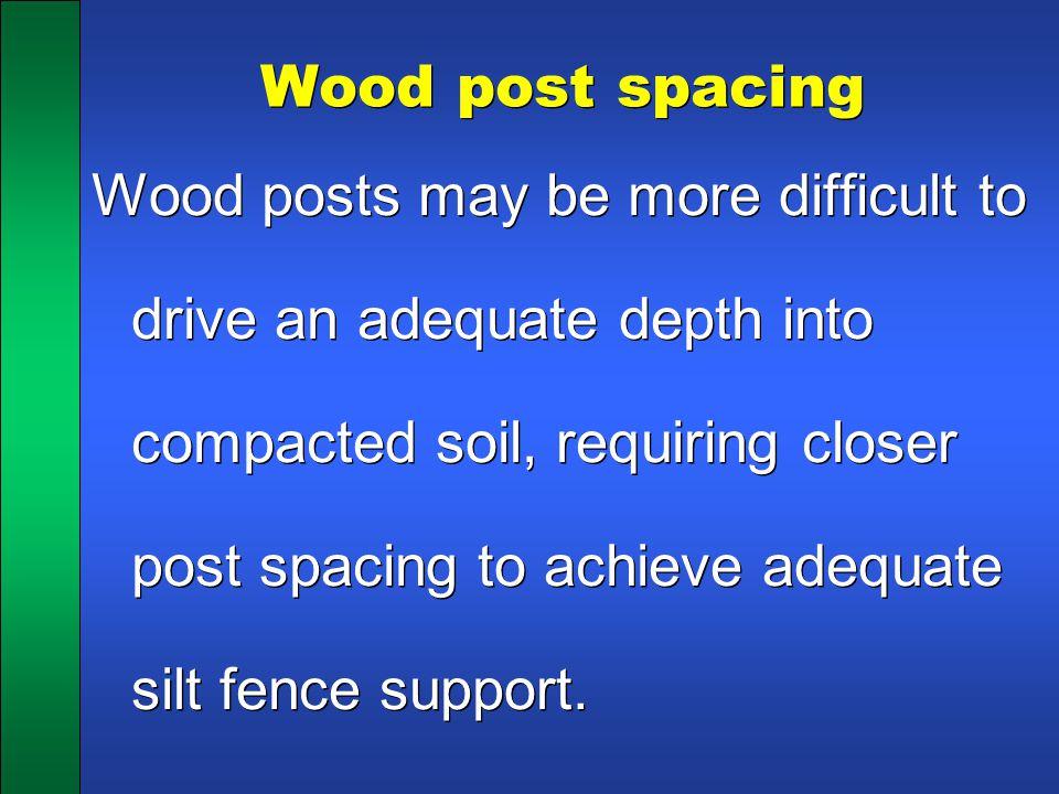 Wood post spacing