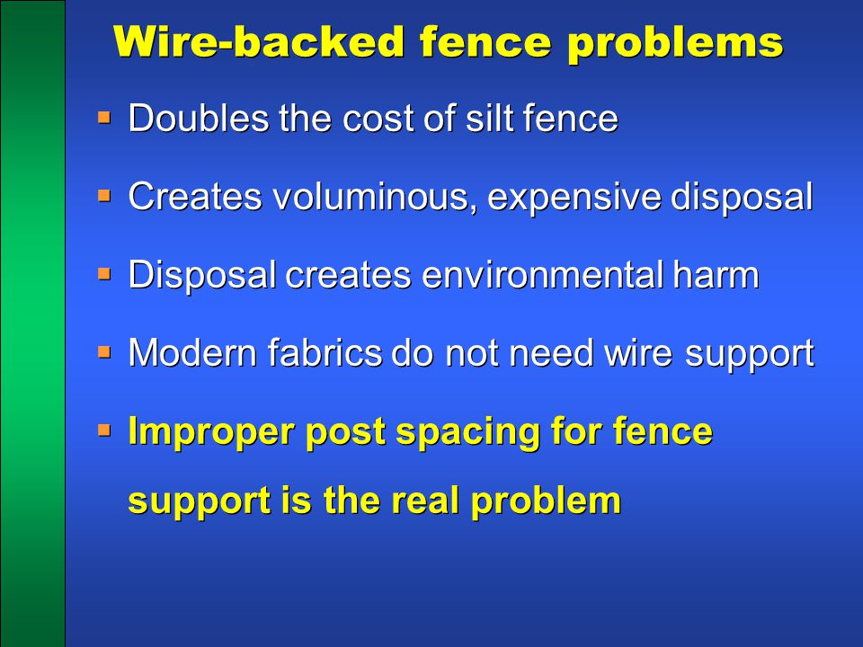 Wire-backed fence problems