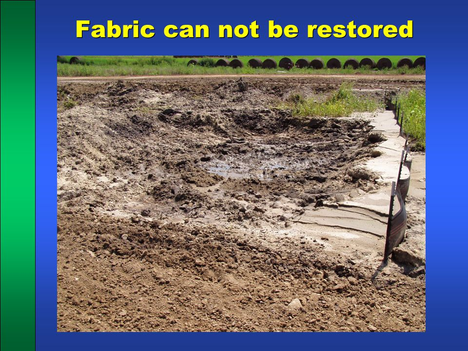 Fabric can not be restored