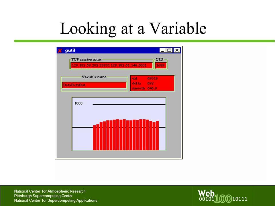 Looking at a Variable