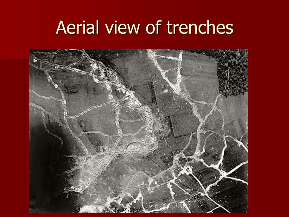 Aerial view of trenches