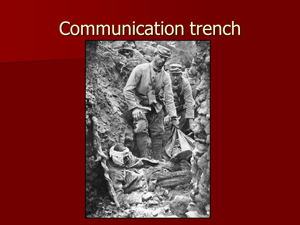 Communication trench