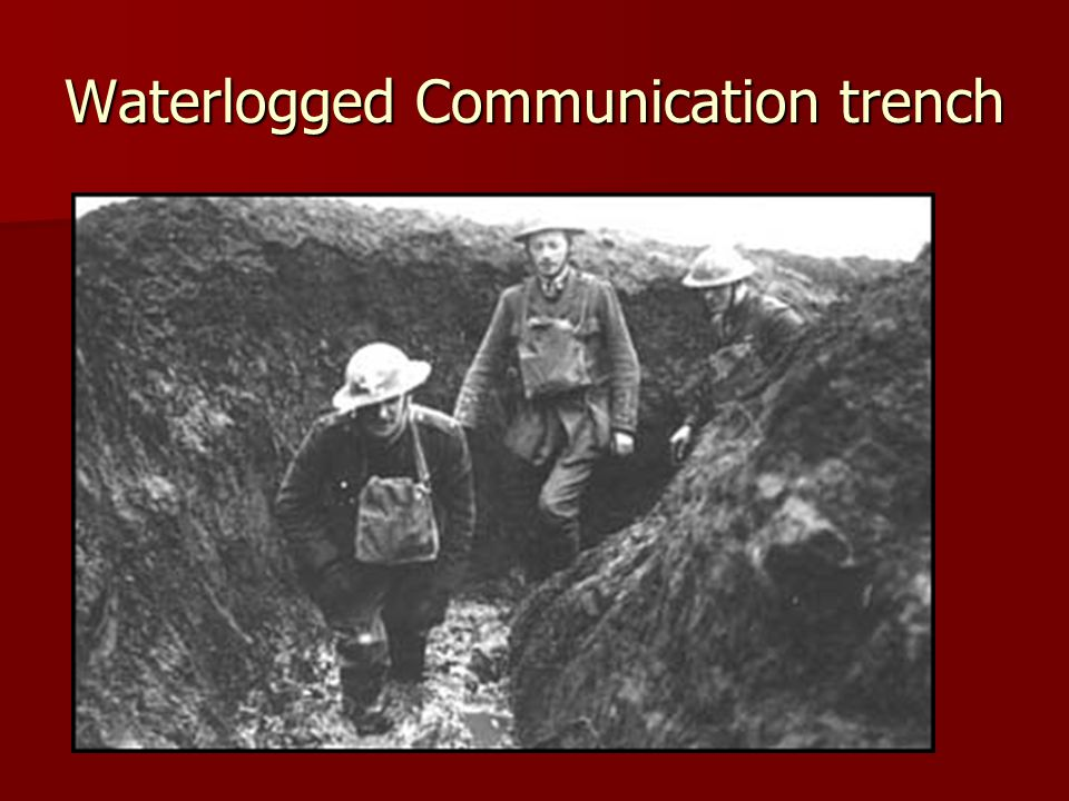 Waterlogged Communication trench