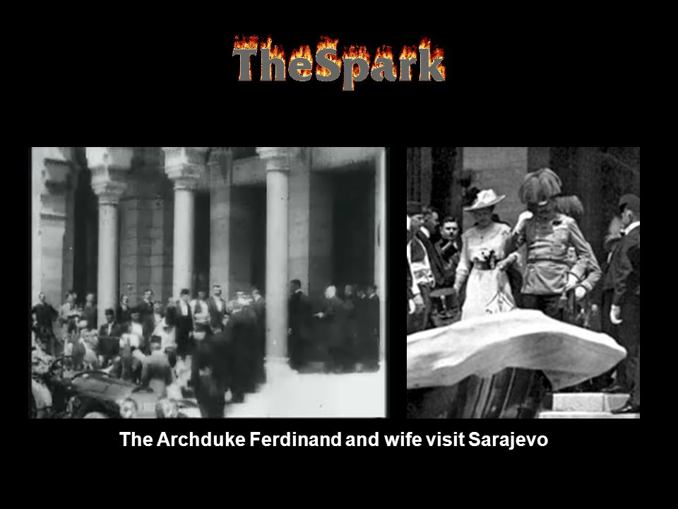 The Archduke Ferdinand and wife visit Sarajevo