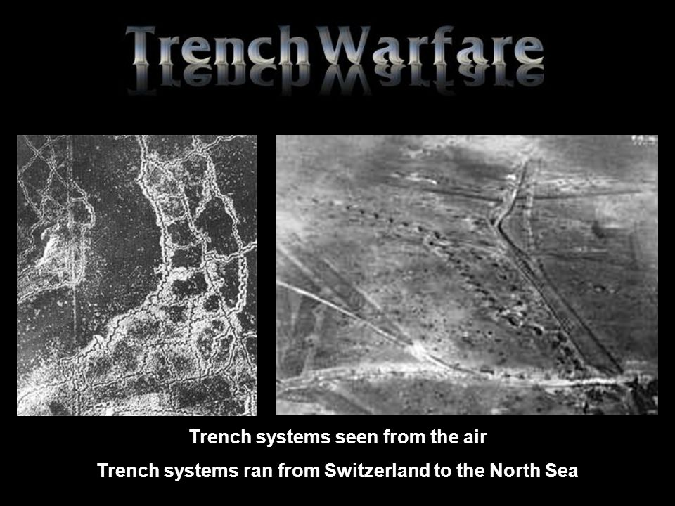 Trench systems seen from the air