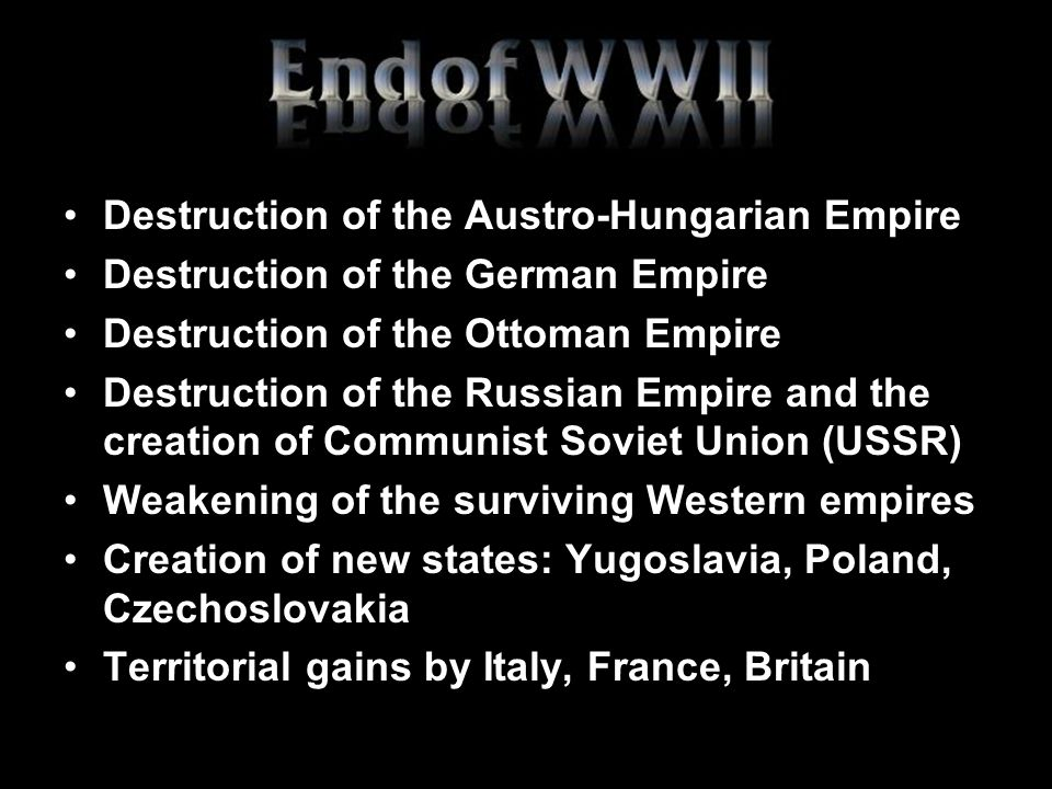 Destruction of the Austro-Hungarian Empire