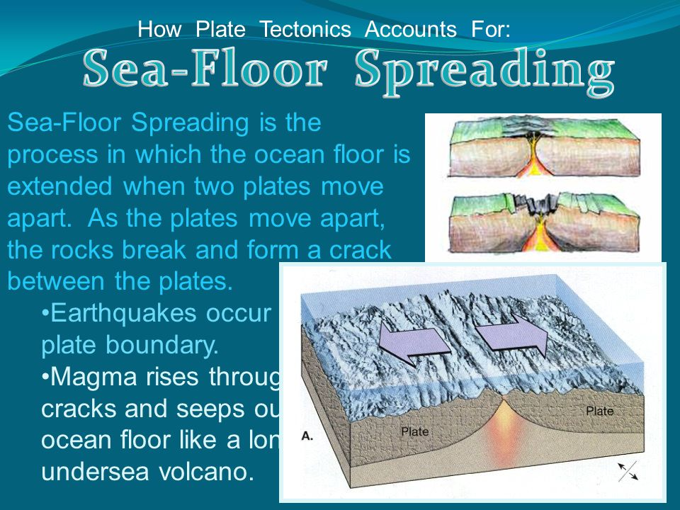 How Plate Tectonics Accounts For: