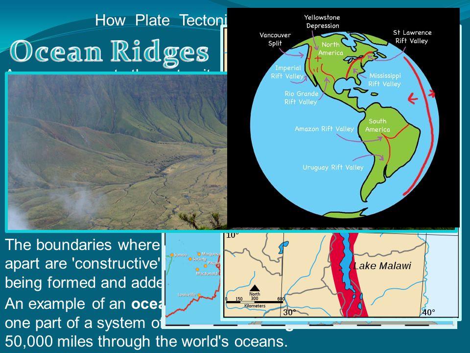 Ocean Ridges and Rift Valleys