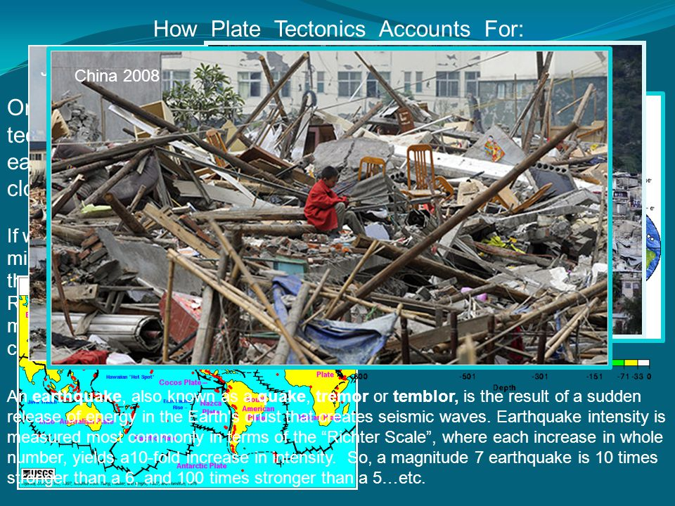 Earthquakes How Plate Tectonics Accounts For: