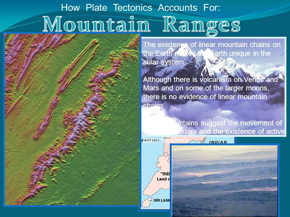 Mountain Ranges How Plate Tectonics Accounts For: