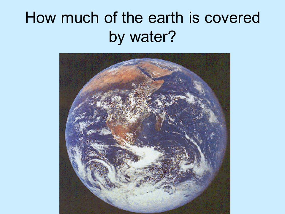 How much of the earth is covered by water