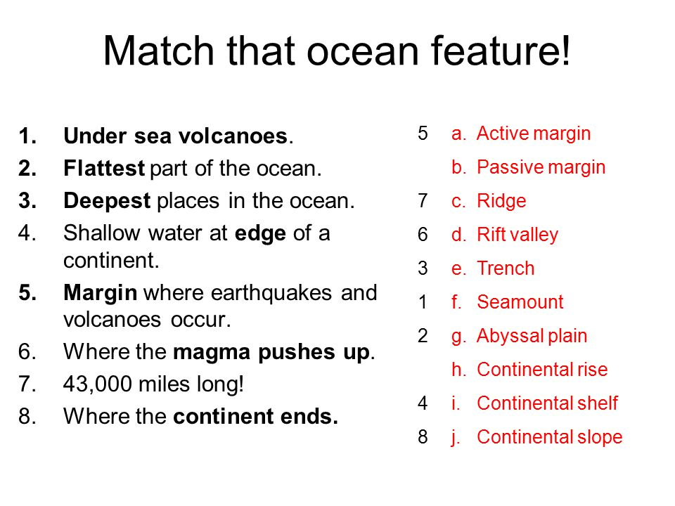 Match that ocean feature!