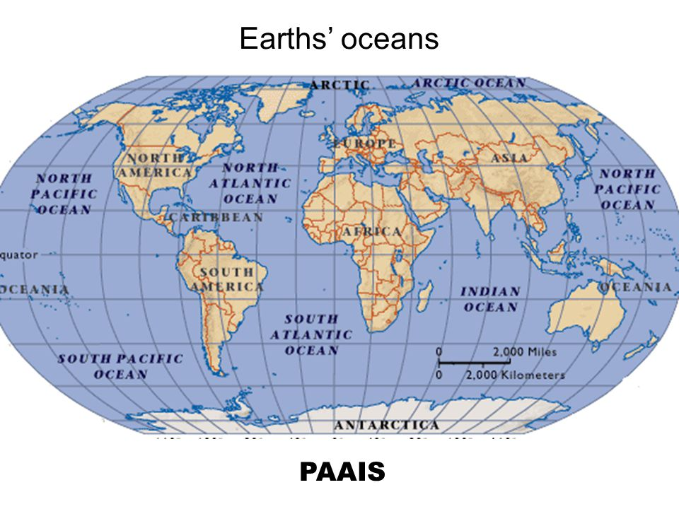 Earths' oceans PAAIS