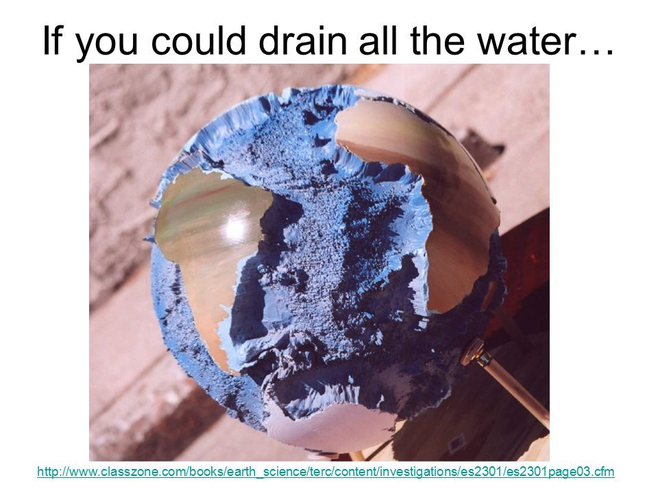 If you could drain all the water…