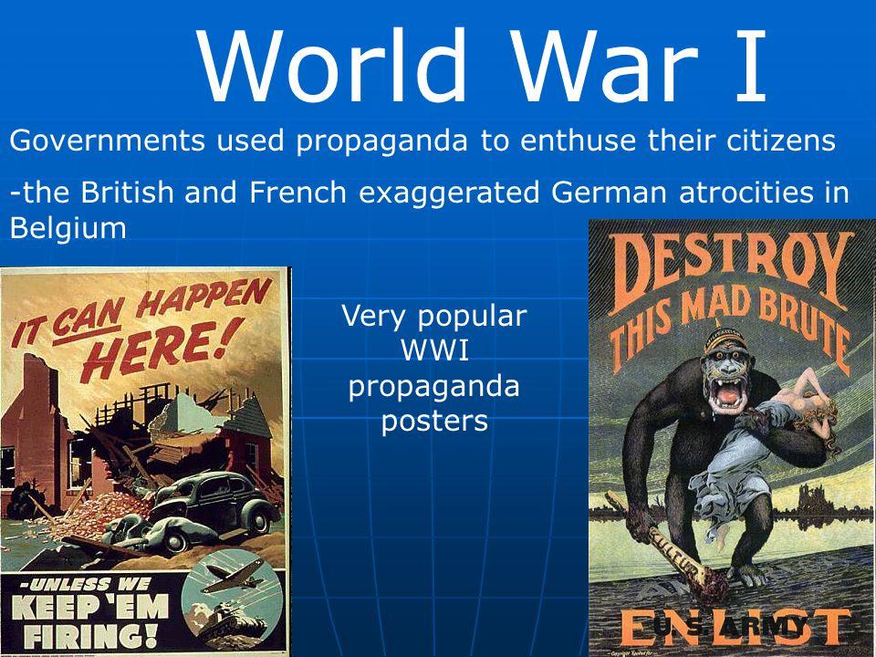 Very popular WWI propaganda posters