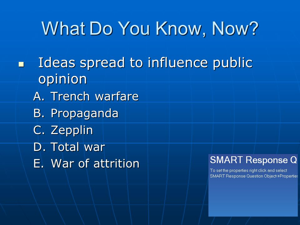 What Do You Know, Now Ideas spread to influence public opinion