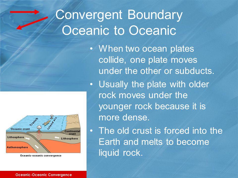 Convergent Boundary Oceanic to Oceanic